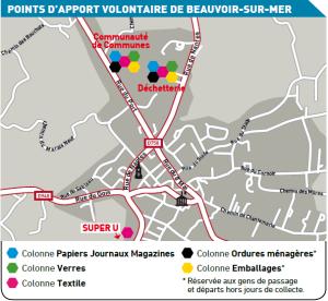Localisation des PAV à BEAUVOIR en 2016