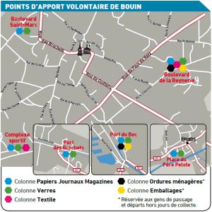 Localisation des PAV à BOUIN en 2016