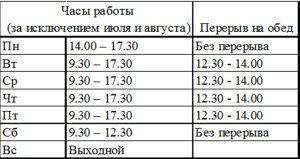 horaires OT