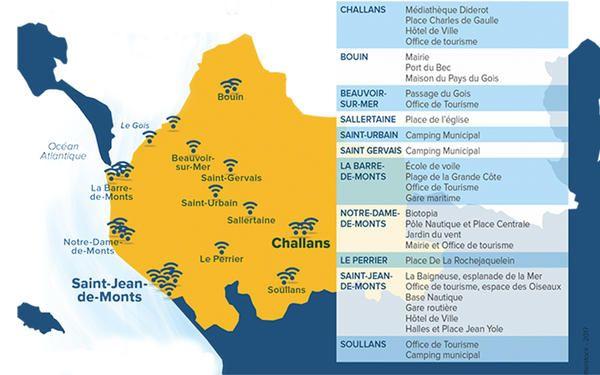 Pratique 30 zones wifi dans le nord ouest vend e tourisme vie intercommunale vie locale - Office du tourisme de saint gervais ...